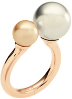 EMPORIO ARMANI EGS217221 Rose Gold Tone Silver Dome Ladies Ring Size.9, 5.5