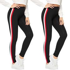 Damen Jogging Hosen Stoffhose Stretch Treggings Leggings Sports Skinny Jeggings