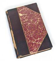 Antique 1890's Don Quixote Vol 2 Cervantes - Barrie - Leather Book, Vellum Pages