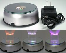 Big LED Light Stand Turntable Rotating Base for Display Crystal Cube