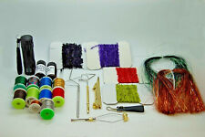 Fly Tying Tool and Material Kit Tinsel Thread Whip Finisher UV Glue Wire