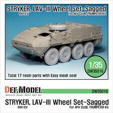 DEF. modello, STRYKER/LAV-III eccesso set Ruota (per AFV CLUB/Trombettista 1/35), dw35010