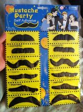 Holiday Party Fun! Mustache Set Of 12-2x Six Different Disguises Self Stick