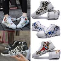 Men's&Women's Outdoor Skateboard Shoes Casual Breathable Sport Graffiti Sneakers