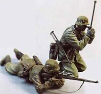 1/35 Resin WWII German Soldiers in Action Unpainted Unassembled QJ067
