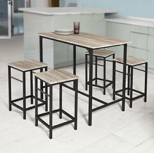 B-Waren Bartisch,Set 5-teilig Stehtisch,Bistrotisch mit 4 Stühlen,OGT11-N-bwaren