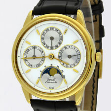 Piaget 18K Gouverneur Moonphase Full Calendar Automatic Watch G0A00559 34mm