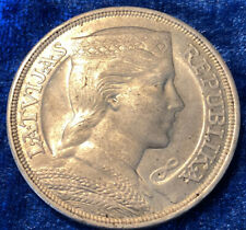 More details for .835 silver latvian 1931 5 lati