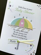 Personalised Handmade 'Baby Shower' Card
