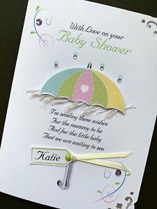 Personalised Handmade 'Baby Shower' Card