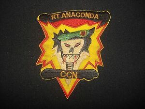 US 5th Special Forces Group MACV-SOG RT ANACONDA CCN Vietnam War Patch