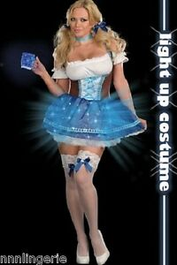 Dreamgirl Lingerie Heidi Blue Light Costume Roleplay Set