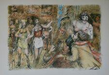 Lucien Philippe MORETTI - Lithographie originale signée - Rue de Toulon