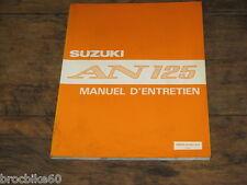 MANUEL REVUE TECHNIQUE D ATELIER SUZUKI AN 125 VECSTAR 1995-1999 AN125 125AN