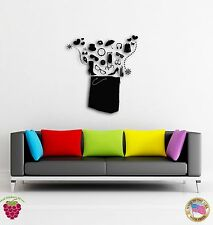 Wall Vinyl Stickers Shopping Bag Full Of Things Cool Modern Decor  z1567
