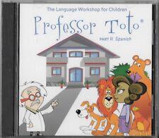 Professor Toto Part 2 spanish Language Workshop for Children (Cd, 2003) New