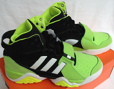 Adidas Streetball 1.5 G99872 High-Top Black Green Basketball Shoes Mens 12.5 new