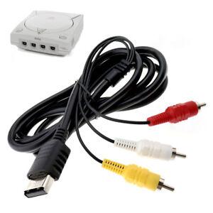 Sega Dreamcast TV AV Cable Lead Composite Video Audio RCA