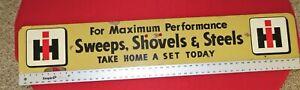 "IH MASONITE/WOOD SWEEPS, SHOVELS & STEELS DOUBLE SIDED 48"" X 8"" X 1/4"" SIGN"