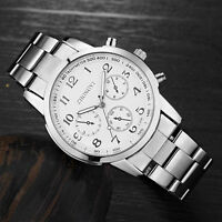 Luxus Herren Mechanisch Quarz Armbanduhr Uhr Edelstahl Business Sport Watch Gift