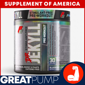 """PS Dr. JEKYLL STIM-FREE STRONG Pre-Workout - 30 Servings """"FREE SHIPPING"""""""