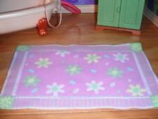 Fisher Price Loving Family Dollhouse Purple Floral Flower Carpet Rug Lavendar