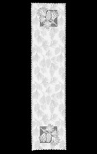 """Heritage Lace White WOODLAND 14"""" x 60"""" Table Runner"""