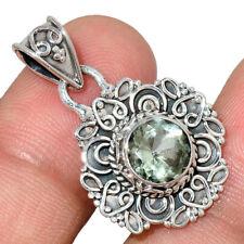 Green Amethyst 925 Sterling Silver Pendant Jewelry AP207849 112M