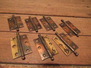 Vintage Lot Japanned Flash Finish Rusty Steel Hinges