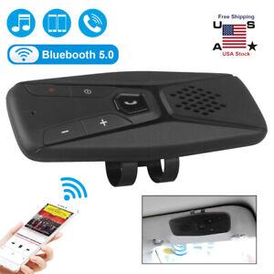 Wireless Bluetooth 5.0 Hands Free Car Speakerphone Speaker Phone Visor Clip usa
