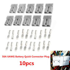 Battery Quick Connect 10pcs Kit -50A Wire Harness Plug Disconnect Winch Trailer