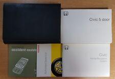 GENUINE HONDA CIVIC 5 DOOR OWNERS MANUAL HANDBOOK WALLET 2005–2008 PACK E-586 !