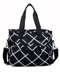 Rainproof Fabric Multiple Compartment Shopping Tote Shoulder Bag - Large Size