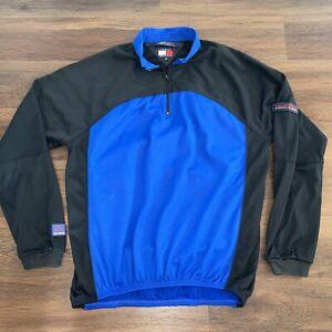 Vintage 90s Tommy Hilfiger Athletics Cycling Jersey Shirt Rare Mens M