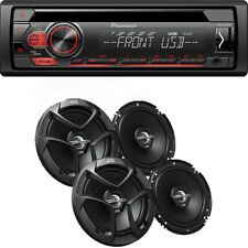 Pioneer DEH-S1100UB CD MP3 Stereo, AUX with 2) Pairs JVC 6.5 Car Speaker