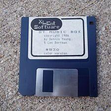 XLEnt Software ST Music Box 1986 Color Version 3.5 Floppy Disc Dennis Young