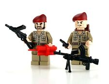 British SAS 2 WW2 Special Armed Services Soldiers made with real LEGO® minifures