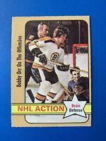 Bobby Orr NHL Action 1972-73 O-Pee-Chee Hockey Card #58 Boston Bruins
