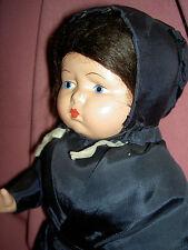 """1936 vintage, Effanbee F&B, Grumpy """"Mennonite"""" Pennsylvania Dutch, Amish doll"""