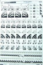 LETRASET Rub On Symbol Transfers ART DECO CORNERS (#2565)