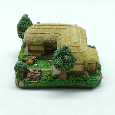 Korean traditional Thatched house miniature with pastel shade in vivid color