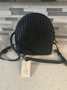 New Universal Thread Goods Co Black Weave Backpack Bag with Zipper Closure