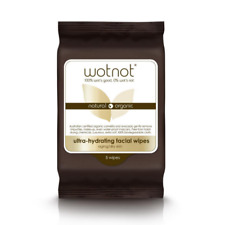 Wotnot Natural Makeup Removal Facial Wipes For Dry & Aging Skin Types 5 pk