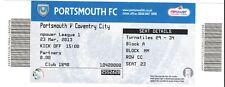 Ticket - Portsmouth v Coventry City 23.03.2013