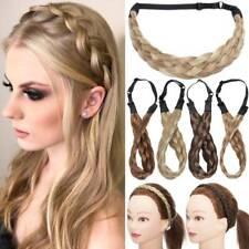 100% REAL Chunky Braided Headband Hairpiece Wrap Plaited Hairband Hair Extension