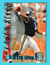 1996 Stadium Club Laser Stats Member's Only Warren Moon Vikings #LS8 (KCR)