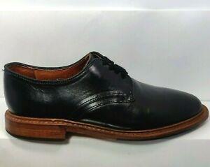 Allen Edmonds 1587 Men's Academy Black Leather Plain Toe Derby Lace Up 1587 US7D