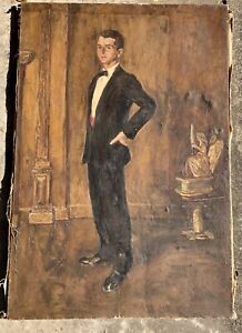 Important Early Portrait By Listed Texas Artist Chapman Kelley