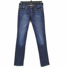 Lucky Brand Jeans Womens Sz 25/33 Blue Sweet Straight Mid Rise Dark Wash