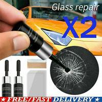2* Automotive Glass Nano Repair Fluid Car Window Glass Crack Chip Repair Tools~